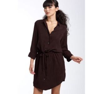 James Perse | Standard Brown Shirtdress Size 3